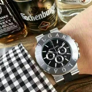 BVLGARI - ブルガリ メンズ腕時計  ステンレス シルバー クロノグラフ