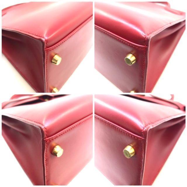 Hermes(エルメス)の【確認用】エルメス HERMES ケリー32 ボックスカーフ 赤茶 ▢D刻印  レディースのバッグ(ハンドバッグ)の商品写真