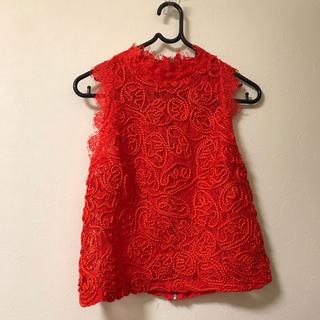 353098b45fcab ザラ シャツ ブラウス(レディース 半袖)(レッド 赤色系)の通販 100点 ...