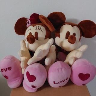 ディズニー(Disney)のミッキー&ミニーちゃんぬいぐるみ(ぬいぐるみ)