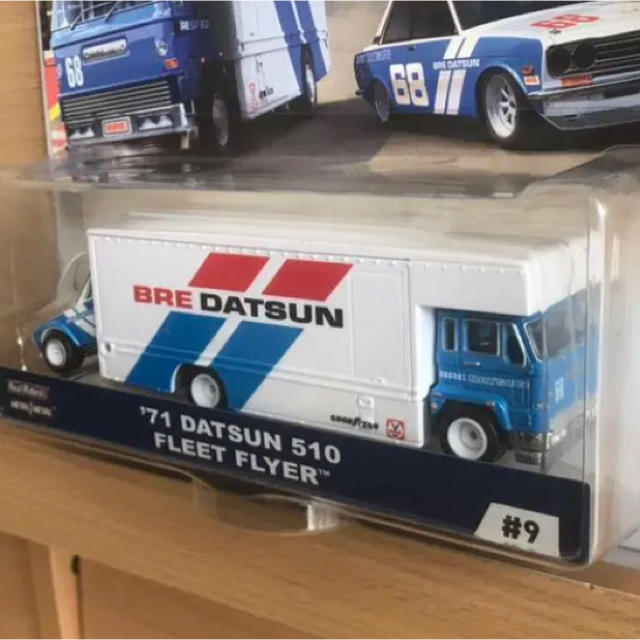 日産(ニッサン)のDATSUN510&チームトランスポートホットウィールBRE No1 エンタメ/ホビーのおもちゃ/ぬいぐるみ(ミニカー)の商品写真