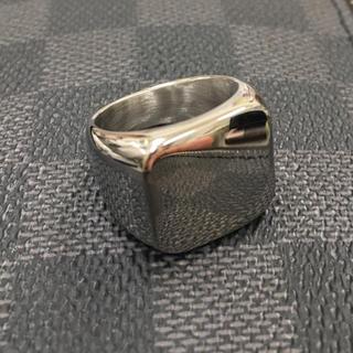 スクエアリング 14号  印台リング サージカルステンレス(リング(指輪))