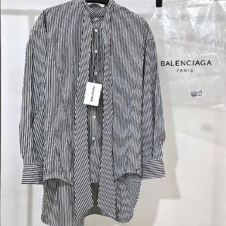Balenciaga - BALENCIAGA ロゴ ジャケット コート