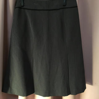 シマムラ(しまむら)のグレー スカート オフィス (ひざ丈スカート)