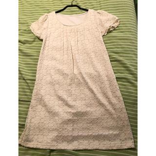 ベルメゾン(ベルメゾン)のマタニティドレス 授乳ドレス 授乳ワンピース 白レース マタニティM(マタニティワンピース)