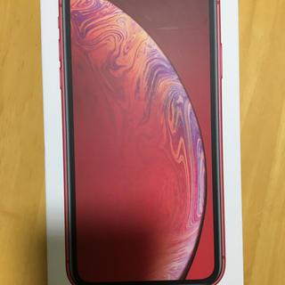 アイフォーン(iPhone)の新品未使用iPhone XR64GB レッド SIMフリーネットワーク制限◎(スマートフォン本体)