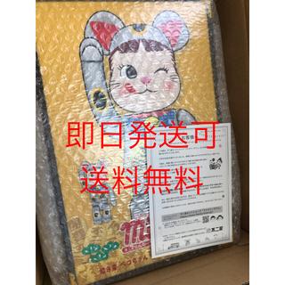 メディコムトイ(MEDICOM TOY)のBE@RBRICK 招き猫 ペコちゃん 銀 100% 400% ベアブリック (その他)