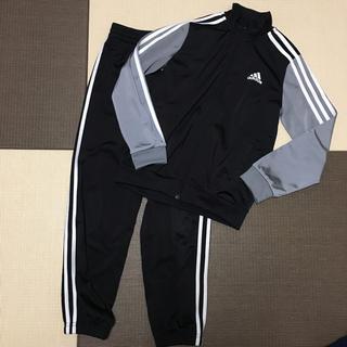 アディダス(adidas)のアディダス☆ジャージ上下ブラック×グレー140cm(その他)