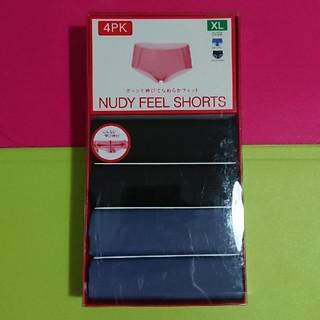 トリンプ(Triumph)のNUDY  FEEL  SHORTS(XL)★4枚セット(ブラック・ブルー)(ショーツ)