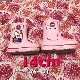 クロックス(crocs)のクロックス キッズ 長靴 レインブーツ ピンク キティ(長靴/レインシューズ)