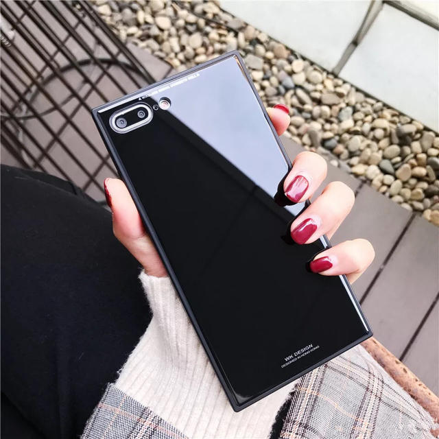 iphone x max スクエア ケース / iPhoneケース スクエア型 ブラックの通販 by ブラウンコニー 12/28〜1/5発送休|ラクマ