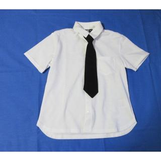 コムサイズム(COMME CA ISM)のコムサイズム 黒ネクタイ&ポケット半袖シャツ160㎝(ブラウス)