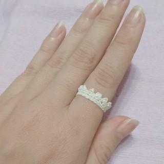 レース編みの指輪Ver.2(リング(指輪))