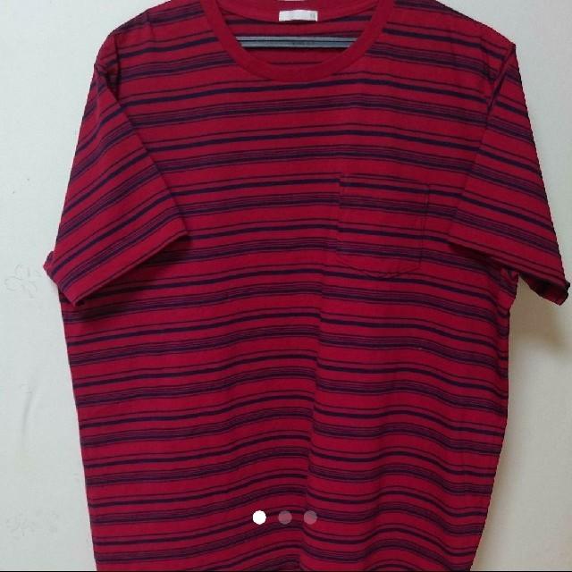 GU(ジーユー)の✨ 未使用✨ジーユー・GU 赤Tシャツ メンズのトップス(Tシャツ/カットソー(半袖/袖なし))の商品写真