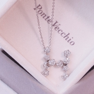 ポンテヴェキオ(PonteVecchio)のポンテヴェキオ*ネックレス ダイヤモンド ハート フラワー スタームーン|極美品(ネックレス)