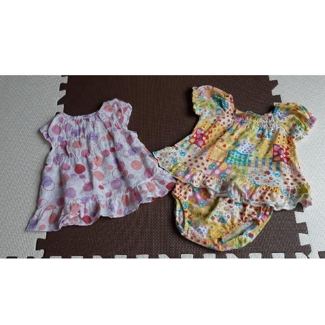 西松屋(ニシマツヤ)の西松屋 ブラウス&セットアップ キッズ/ベビー/マタニティのベビー服(~85cm)(ワンピース)の商品写真