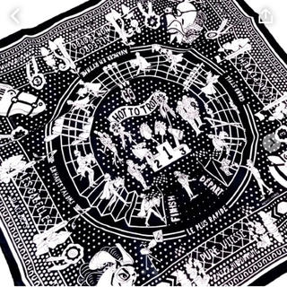 Hermes - 新品 エルメス バンダナ 黒 カレ スカーフ 55サイズ