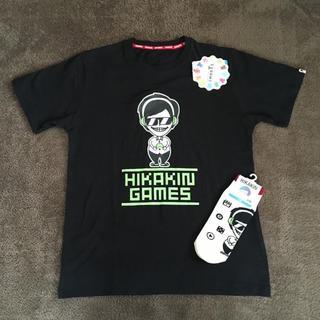シマムラ(しまむら)のヒカキンゲームズ●Tシャツ&ソックスセット●サイズM(Tシャツ/カットソー(半袖/袖なし))
