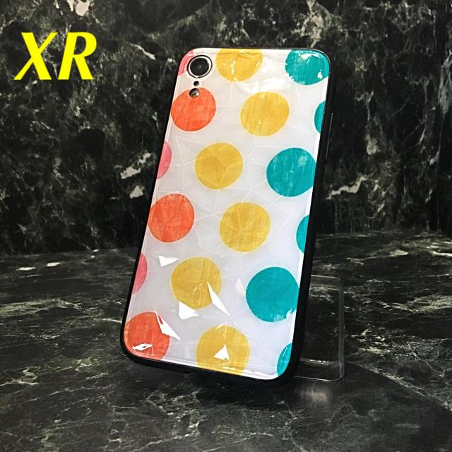 iphonexr ケース 赤 - アイフォンXR iPhoneXRケース☆水玉☆カラフル☆マーブル☆送料無料の通販 by ロゴ's shop|ラクマ
