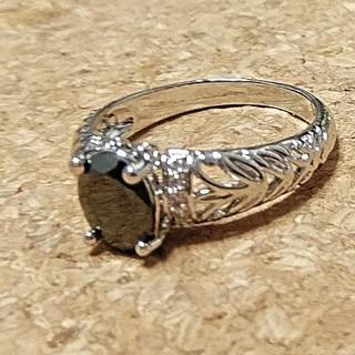 ブラックスピネルのシルバーリング(リング(指輪))