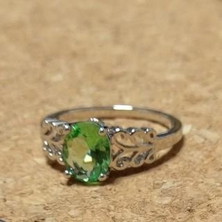 グリーンアメジストのシルバーリング(リング(指輪))