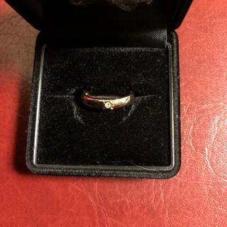 1粒ダイヤモンド ピンクゴールドリング(リング(指輪))
