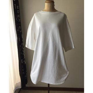 ジーユー(GU)のGU  ヘビーウェイトシャツ ビッグT 人気 M(Tシャツ/カットソー(半袖/袖なし))