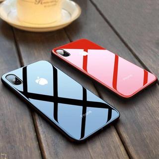 iPhone xs max ガラスケース レッド