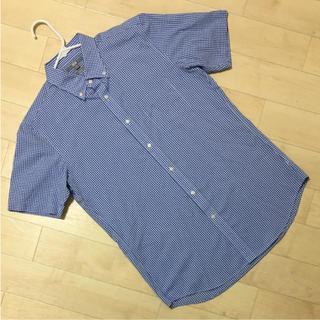 ユニクロ(UNIQLO)のユニクロ クールビズに!スリムフィット半袖シャツ チェック柄Lサイズ(シャツ)