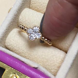 本日の21時まで値下げ‼️k18 0.25 ダイヤモンド ミルウチ  リング(リング(指輪))