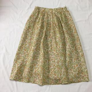 ベルメゾン(ベルメゾン)のベルメゾン リネン100% スカート(ひざ丈スカート)