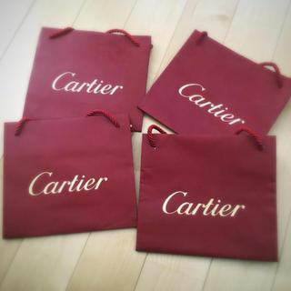 カルティエ(Cartier)の【即購入NG】cartier ショップバッグ 4枚組  20cm×18cm (ショップ袋)