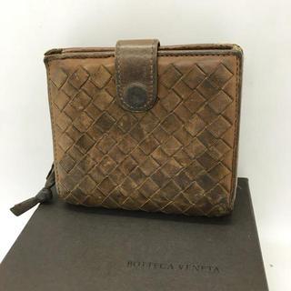 ボッテガヴェネタ(Bottega Veneta)の⭐︎セール⭐︎ ボッテガヴェネタ 二つ折り 財布 ブラウン メンズ(折り財布)