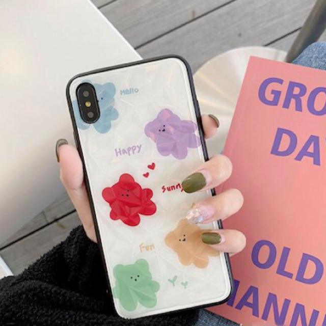 iphone7 ケース 斜めがけ / 海外限定 Xr Xs Xs max クマ くま 熊 いちご イチゴの通販 by LA James SHOP|ラクマ