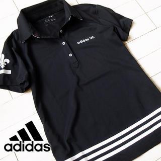 adidas - 美品 Sサイズ アディダス ゴルフ レディース 半袖ポロシャツ ブラック