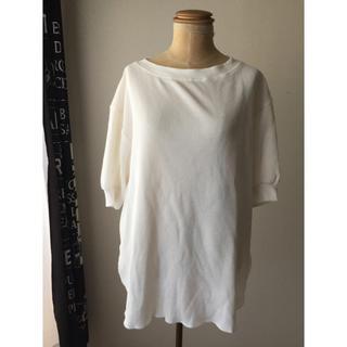 ジーユー(GU)のGU  ワッフルビッグT ビッグT 人気 M(Tシャツ/カットソー(半袖/袖なし))