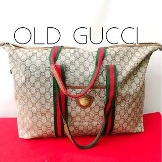 ec1f0e1b117c グッチ(Gucci)の美品レア オールドグッチプラス シェリーライン 大型トートバッグ