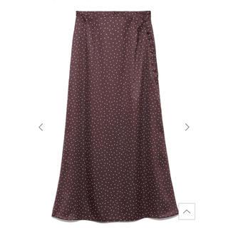 フレイアイディー(FRAY I.D)のフレイアイディー サテンナローフレアースカート(ロングスカート)