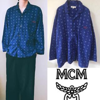MCM - 90's MCM エムシーエム 総柄シャツ 開襟シャツ