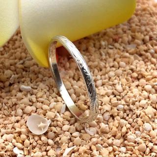 さらに美しく見せる 極細 2mm リング ハワイアンジュエリー シルバー925(リング(指輪))