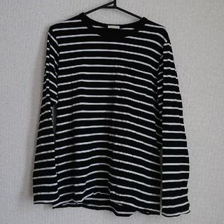 GU - GU  ロング ボーダー Tシャツ