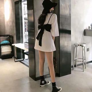 dholic - 2点セット ビスチェ ビック Tシャツ ワンピース オルチャン 韓国