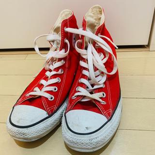 219651bf9ef4d4 コンバース(CONVERSE)のconverse コンバース オールスター ハイカット 赤 チャックテイラー(スニーカー)