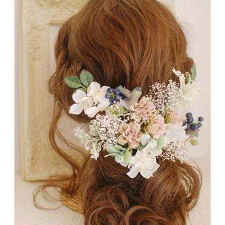 プリザーブドフラワー 髪飾り