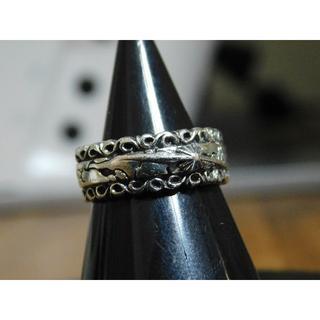 SAAD サード 太陽神 唐草リング 8号 シルバー925 指輪 アクセサリー(リング(指輪))