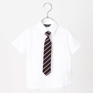 コムサイズム(COMME CA ISM)のコムサイズム レジメンネクタイ付き半袖シャツ130㎝(ブラウス)