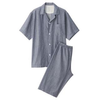 新品   無印良品  脇に縫い目のない 細番手二重ガーゼ半袖パジャマ