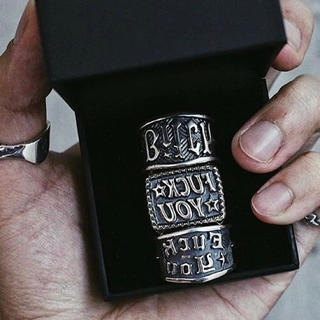 Chrome Hearts - 15号 cody sanderson bitch stamp ring