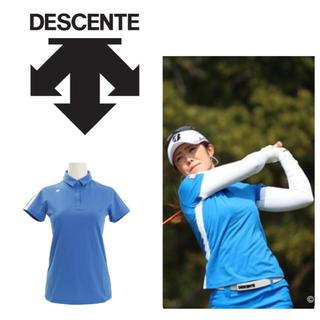 DESCENTE - 新品 定価16200円 デサント ゴルフウェア ポロシャツ 半袖 シャツ