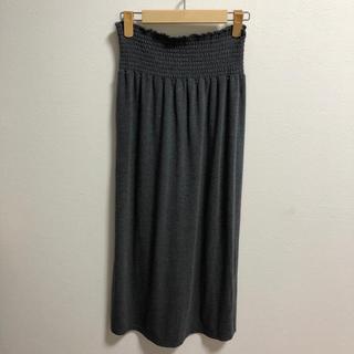 アナップ(ANAP)の☆グレー Aラインロングスカート☆フリーサイズ(ロングスカート)
